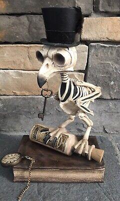 Bethany Lowe Halloween Figurine Statue ~Grimoire Owl ~ *New*