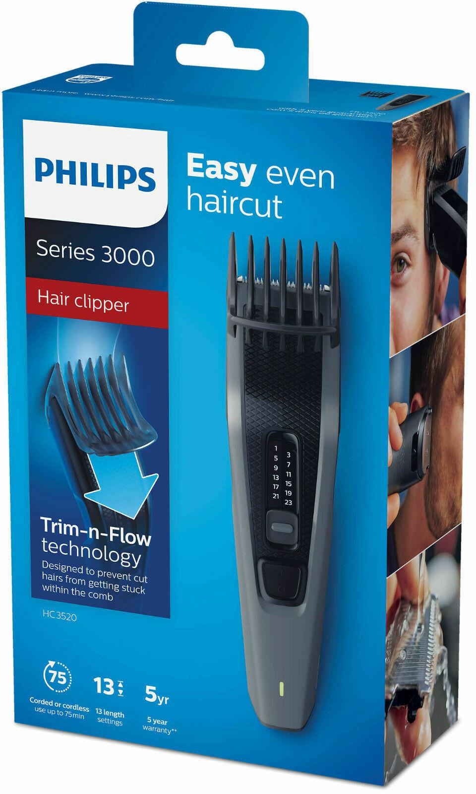 PHILIPS HC 3520 AKKU Haarschneider Lang Bartschneider Haarschneidemaschine