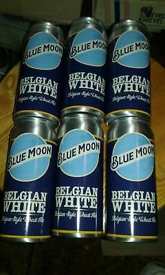 Set of 6 Blue Moon Belgian White Aluminum Beer Can Cocktail Cups