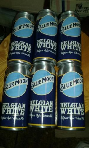 Set of 6 Blue Moon Belgian White Aluminum Beer Can Cocktail Cups #2