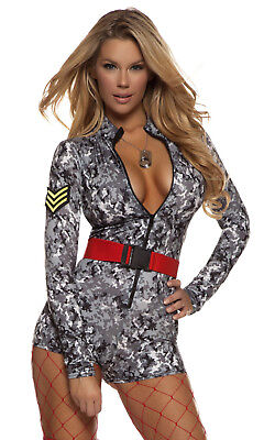 New Sultry Salute Women's Soldier Costume by Forplay 553705 Costumania