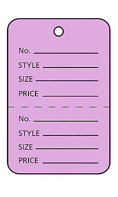 Perforated Tags Price 1000 Sale 1 X 1 Two Part Purple Unstrung Lavender