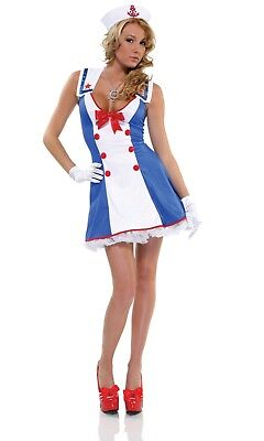 Forplay Overboard Ladies 3 PC Sailor Costume, Size L/XL UK 14-16, New. (Forplay Kostüme Uk)
