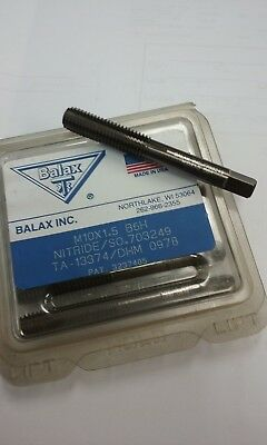 New In Box Lot Of 6 Balax M10x1.5 B6h Roll Form Taps