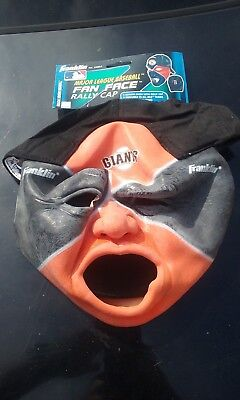Brand new San Francisco Giants MLB Fan Face Mask with Hat Franklin Halloween NWT - Halloween Masks San Francisco