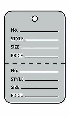 Perforated Tags Price 1000 Sale 1 X 1 Two Part Gray Unstrung Tag Small Grey