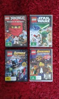 Various Children's Lego Movies x 4