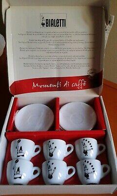Set juego de 6 tazas de café Bialetti con plato.
