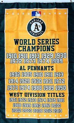 Oakland Athletics World Series Championship Flag 3x5 ft MLB Sports Banner Bar Oakland Athletics Banner Flag