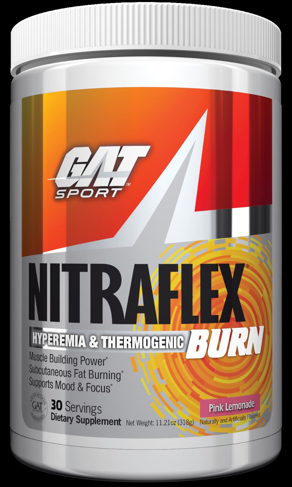 GAT Nitraflex Burn Pre-Workout + Thermogenic Fat Burner 30 S