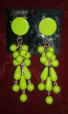 Fairland Creation Tropical Party Theme Green Costume Dangle Earrings](Tropical Themed Costume)