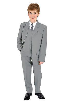 ug Kinderanzug Kommunionsanzug Anzug Taufanzug uni hellgrau (Jungen Kommunion Anzug)