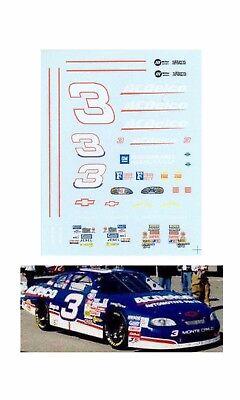Dale Earnhardt Jr 1998 #3 AC Delco decal AFX Tyco Lifelike 1/64 scale