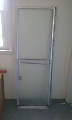 GLASS STALL SHOWER DOOR HINGED ON THE LEFT