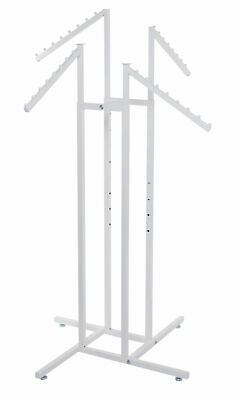 White 4-way Clothing Rack With Slant Arms