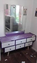 Draws with mirror, bedsides and desk set. North Tivoli Ipswich City Preview