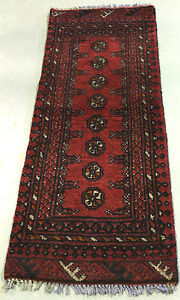 ★NEW PERSIAN RUG★ PURE WOOL 1.4m HALL RUNNER AFGHAN BOKHARA HANDKNOTTED CARPET