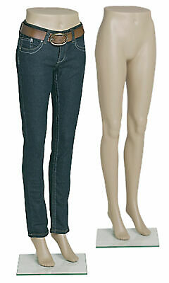 Female Plastic Mannequin Leg Form - Height 43 - With Base