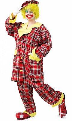 Clown Kostüm Clownmantel Hose Kappe Clownkostüm GrL Clownanzug Karneval (Clown Anzug Kostüm)