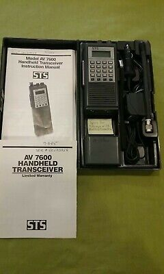 STS AV 7600 Handheld Transceiver (118-135.975 MHz) with Original Parts and Case