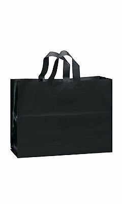 Plastic Shopping Bags 25 Black Frosted 16 x 6 x 12 Frosty Me