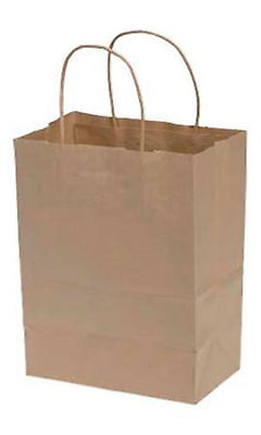 "Natural Merchandise Paper Bag - Paper Shopping Bags 100 Cub Natural Kraft 8 ¼"" x 4 ¾"" x 10"