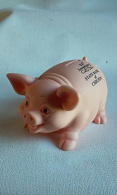 Vintage Advertising Smiling Pig Piggy Bank Chilton Wi  Usa Alliance Plastics