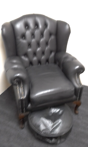 2 Chesterfield winged backed chairs Modbury Tea Tree Gully Area Preview