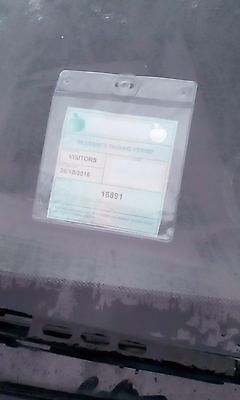 Large car windscreen parking permit ticket holder for displaying permit to park