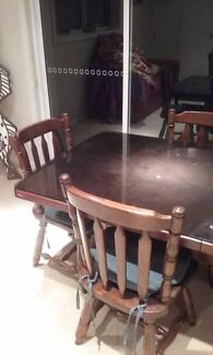 Wooden Table Plus 6 Chairs