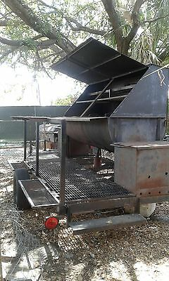 4th Of July Special.. Grill Barbecuesmoker On A Trailer 16ft. Has 2 Hot Boxes.
