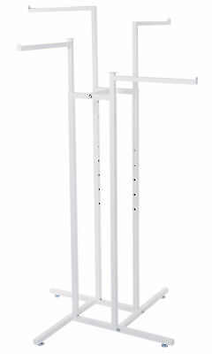 White 4-way Clothing Rack With Straight Arms