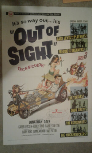 OUT OF SIGHT 1966 ONE SHEET POSTER