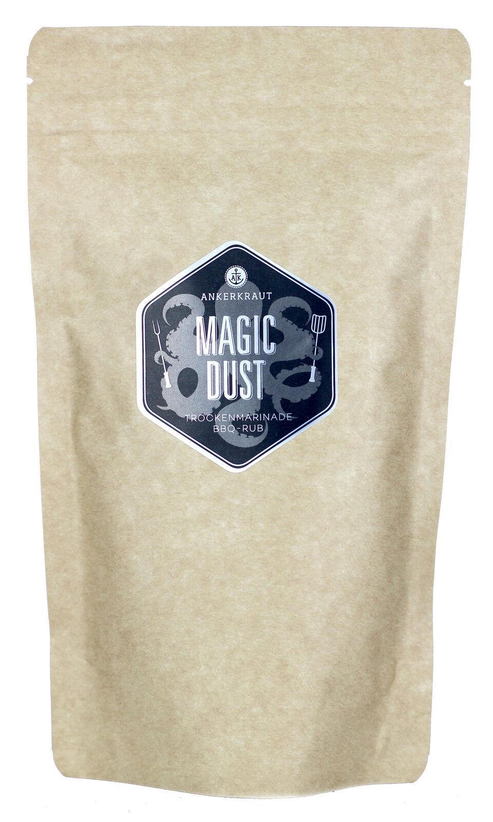 Magic Dust BBQ Rub 250 g Beutel Ankerkraut Barbecue Grill Gewürz für Schwein