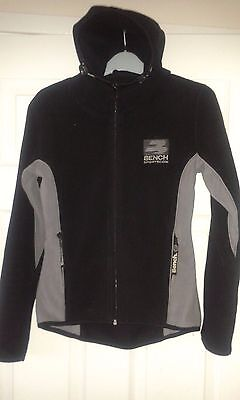 Mens Hooded Jacket - Fleece Style Hoodie - Bench Sportscom - Black & Grey - S for sale  Shipping to Nigeria