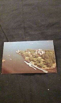 Tourist Boats are Docking at Heart Island at 1000 Islands New York Old Postcard
