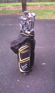GOLF CLUBS AND BAG (LEFT HANDED)