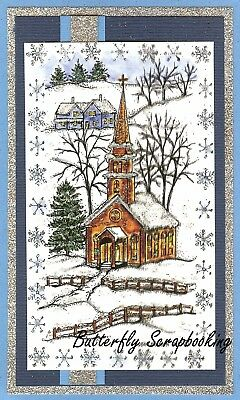 WINTER SNOWFLAKE CHURCH SCENE Wood Mounted Rubber Stamp NORTHWOODS NN10344 New](Snowflake Scenes)