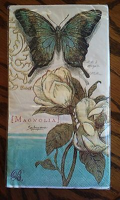 Luncheon Paper Napkin Buffet Nankins Country Rose & Butterfly Tea Party Napkins