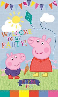 PEPPA PIG LARGE PARTY DOOR BANNER GEORGE WELCOME TO MY PARTY NEW GIFT (Peppa Pig Banner)