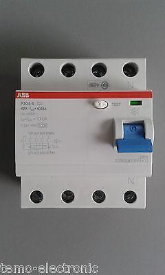 ABB F204A-40/0,03 FI-Schutzschalter 4polig Typ A, 40A, 30mA 2CSF204101R1400