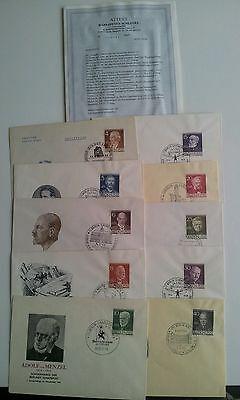 Briefmarken Berlin 91-100 FDC Attest Schlegel