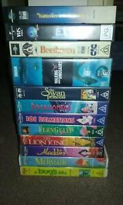 Kids VHS Bulk lot - Lion King, Little mermaid etc Wangaratta Wangaratta Area Preview