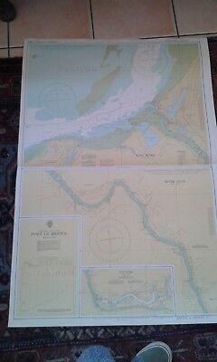 BRISTOL FASHION: Upright 1970s sea chart of Port of Bristol - chart 1859