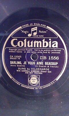 "HILDEGARDE,10""78,DARLING,JE VOUS AIME BEACOUP/FOR ME, FOR YOU, COLUMBIA (DB1556)"