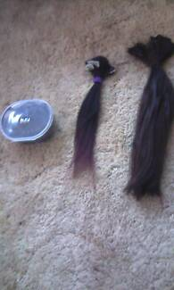 Black hair extensions zala hair accessories gumtree australia 4 sets of hair extensions pmusecretfo Images