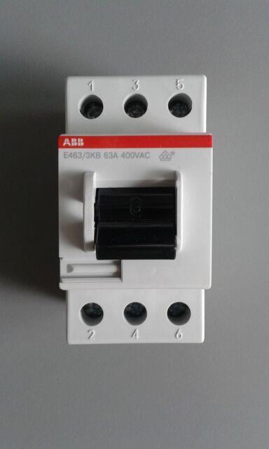ABB E463/3-KB Hauptschalter Ausschalter 3 POLIG 63A 400VAC