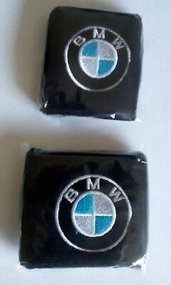 Par Negro BMW Moto Delantero y Trasero Depósito Líquido de Frenos Cubiertas