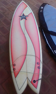 BARGAIN STAR SURFBOARD FISH DESIGN WITH BOARD BAG Alexander Heights Wanneroo Area Preview