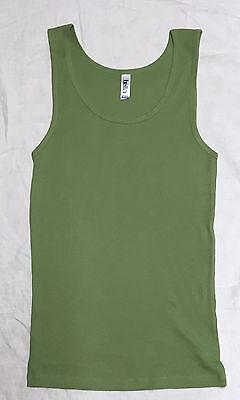 - Bella 4000 Ladies Womens Tank Top Shirt 2x1 Rib Cotton Moss Green M